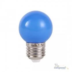 Lâmpada LED Bolinha 1W 127V E27 Azul